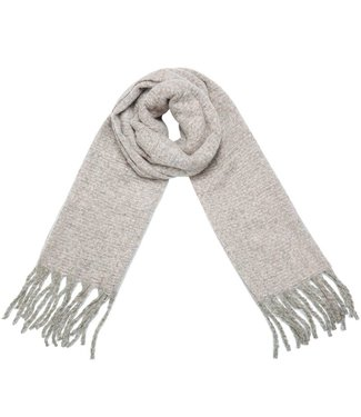 Nela Knitted Scarf / Beige-pink