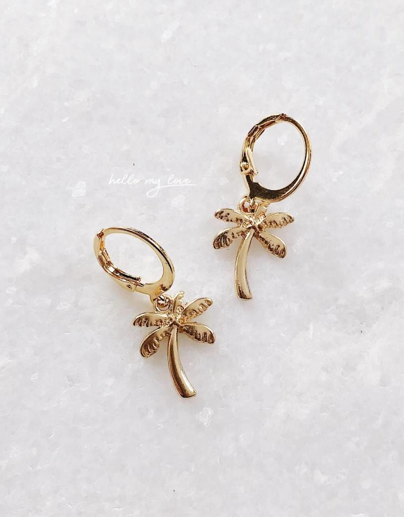 Gold Palm Tree Earrings