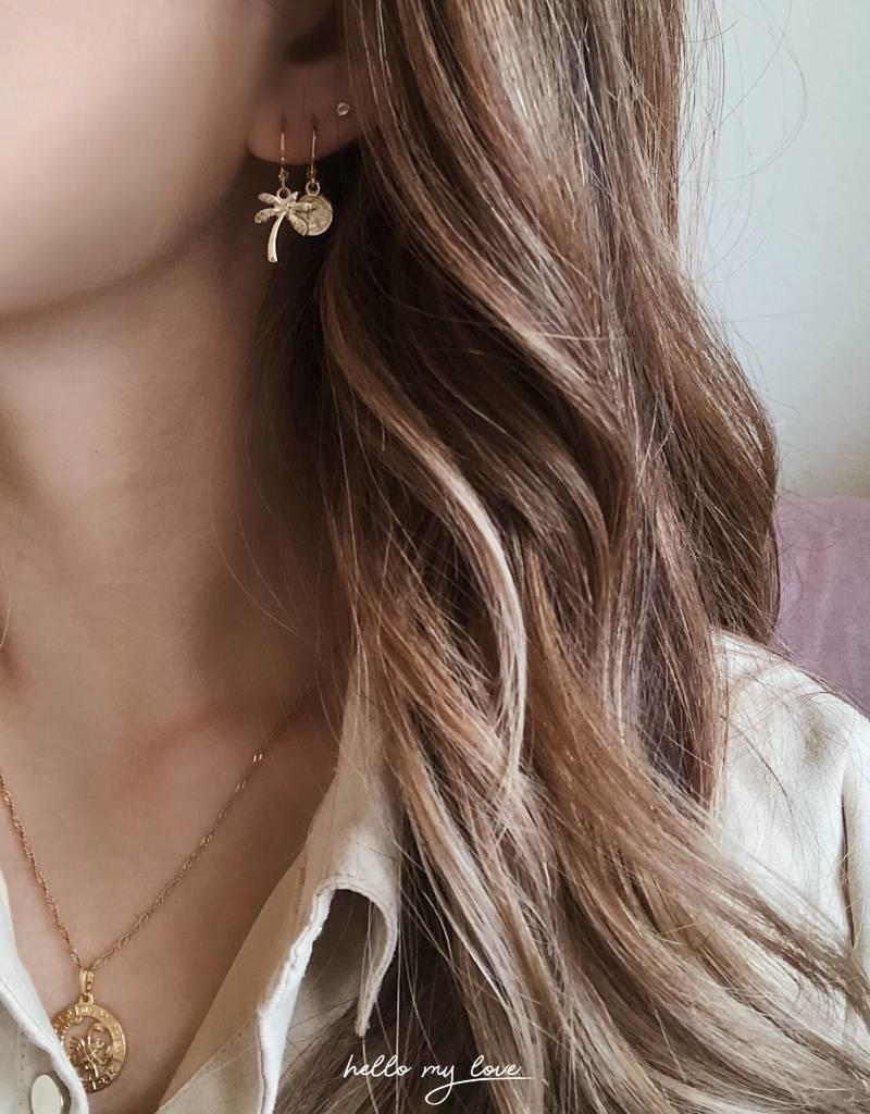 Gold Tiny Coin Earrings