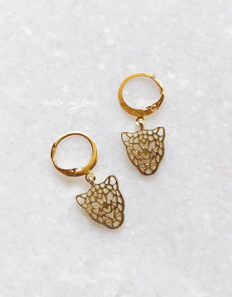 Gold Pantera Earrings