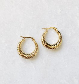 Gold Rosie Hoop Earrings