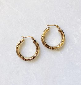 Gold Stella Hoop Earrings