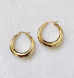 Gold Lucia Hoop Earrings