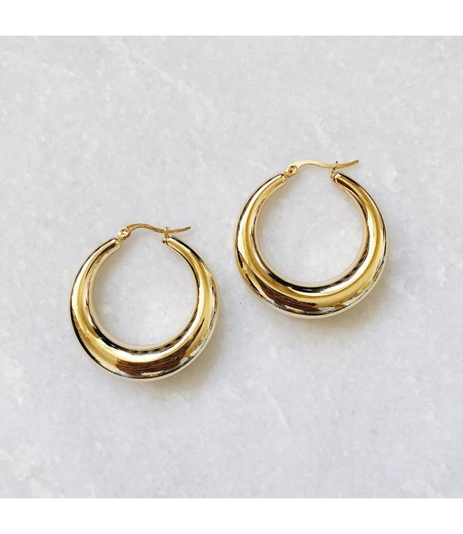 Gold Lucia Hoop Earrings