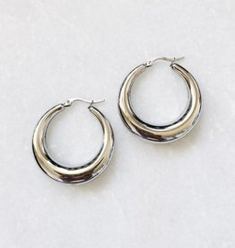 Silver Lucia Hoop Earrings
