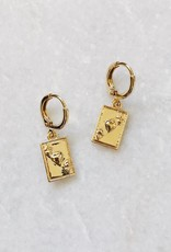 Gold Ace of Hearts Earrings