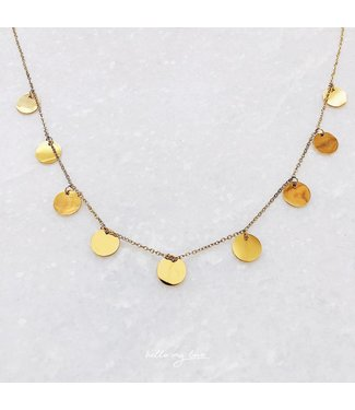 Gold Circle Of Trust Necklace