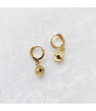 Gold Eyes On You Earrings