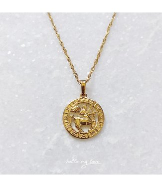 60 cm / Gold Celestial Charm Necklace