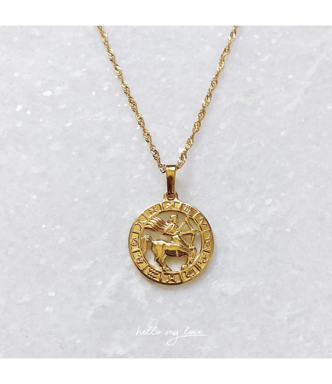 45 cm / Gold Celestial Charm Necklace