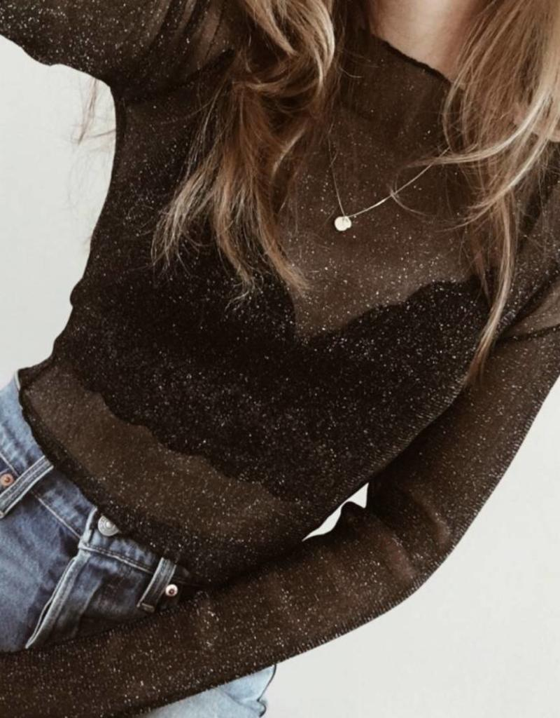 All That Glitters Mesh Top