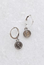 Silver Tiny Coin Earrings
