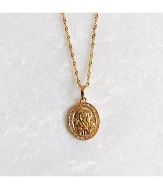 Gold Queen Of Angels Necklace