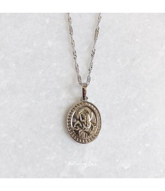 Silver Queen Of Angels Necklace