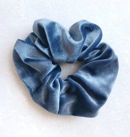 Cara Velvet Scrunchie / Blue