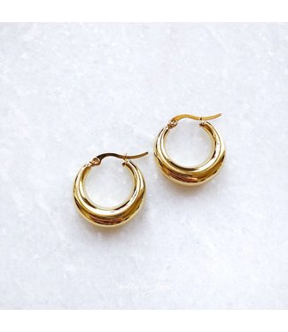 Gold Belle Hoop Earrings