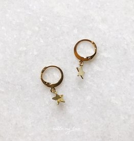 Gold Twinkle Star Earrings