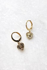 Gold Kind Heart Earrings