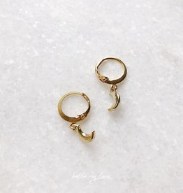 Gold Crescent Moon Earrings