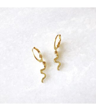 Gold Tiny Snake Earrings