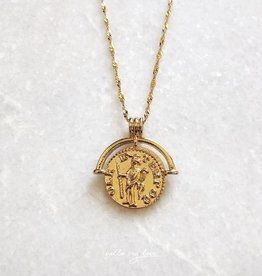 Gold Indra Coin Necklace