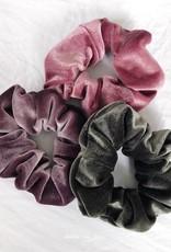 Cara Velvet Scrunchie / Khaki