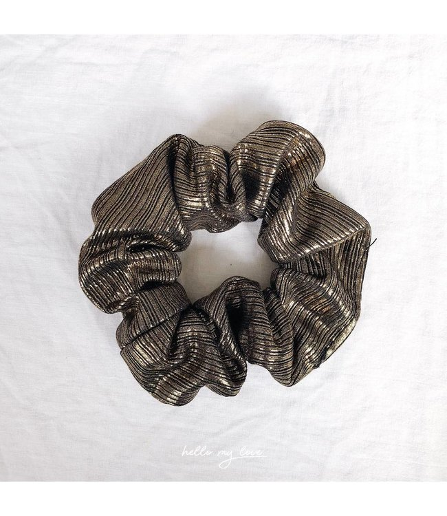 Cara Metallic Scrunchie / Gold