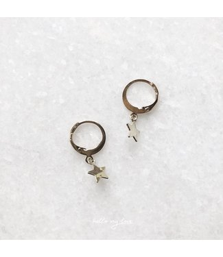 Silver Twinkle Star Earrings