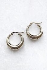 Silver Belle Hoop Earrings