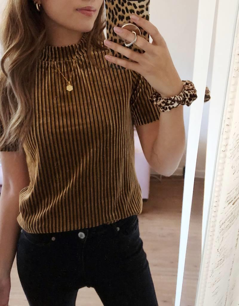 Yasmine Velvet Top / Gold