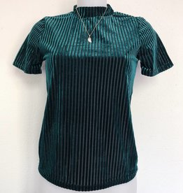 Yasmine Velvet Top / Emerald