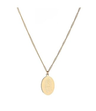 Gold Tiger Plate Necklace