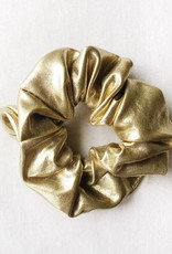 Cara Faux Leather  Scrunchie / Gold