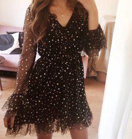 Gold Sparkle Dots Dress