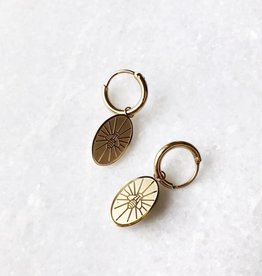 Gold Bee Plate Earrings