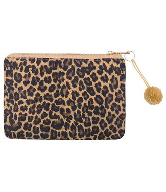 Brown Lovely Leopard Makeup Bag