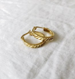 Gold Heather Hoop Earrings
