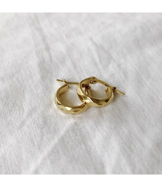 Gold Aimee Tiny Hoop Earrings