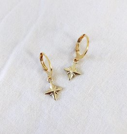 Gold Night Star Earrings
