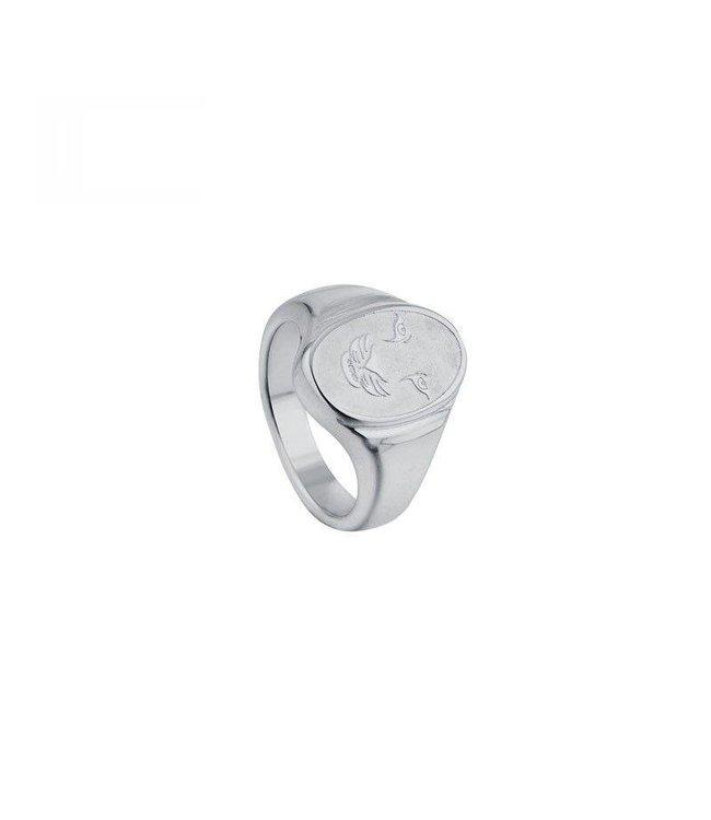 Silver Tiger Signet Ring
