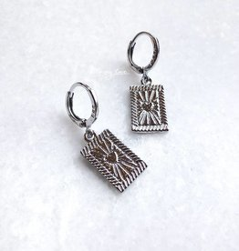 Silver Heartbreaker Earrings