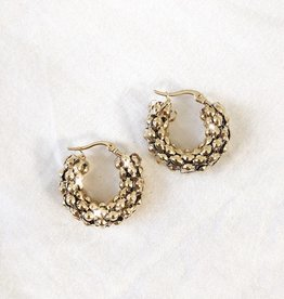 Gold Luna Hoop Earrings