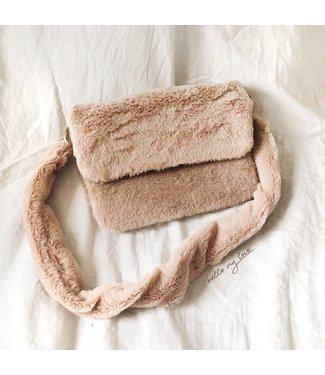 Beige Naira Small Furry Bag
