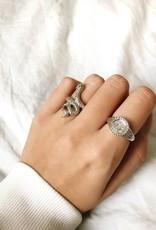 Silver Roman Coin Signet Ring