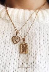 Gold Enchanted Rose Necklace
