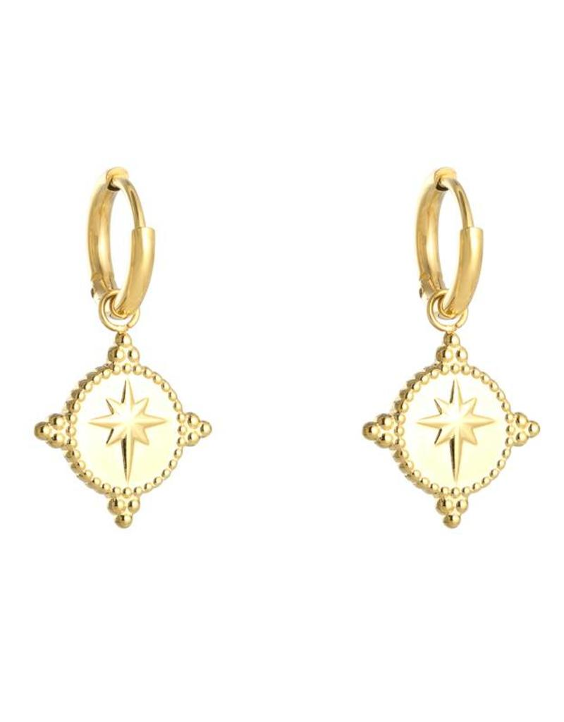 Gold Special Star Earrings