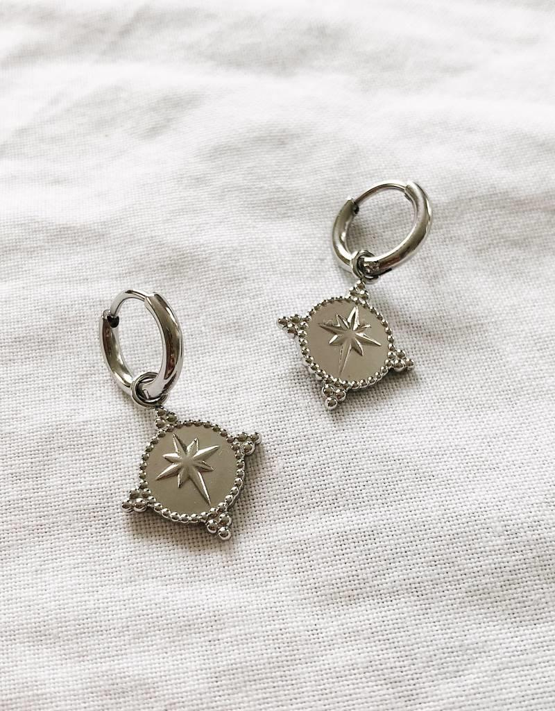 Silver Special Star Earrings