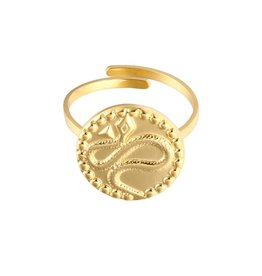 Gold Serpent Snake Ring