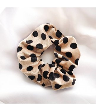 Cara Velvet Scrunchie / Dots