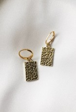 Gold Leopard Print Earrings